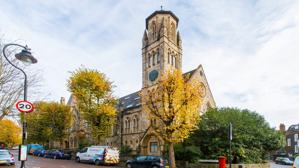 converted church for sale in London, highgate hill