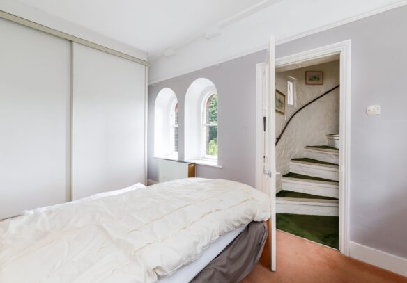 Water-Tower-conversion-north-london-bedroom-period-windows