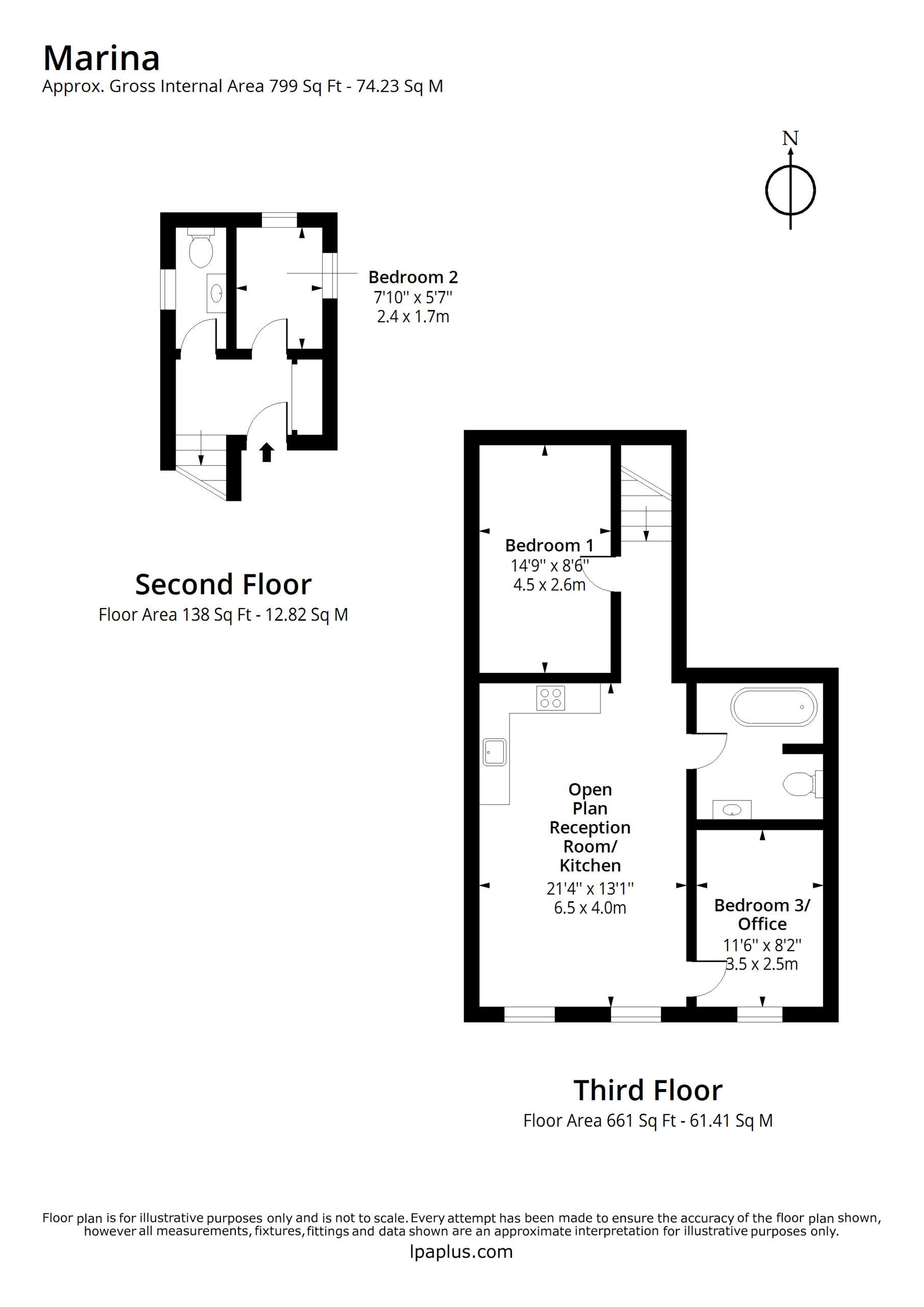 Sea View Apartments - Oakwood floorplan