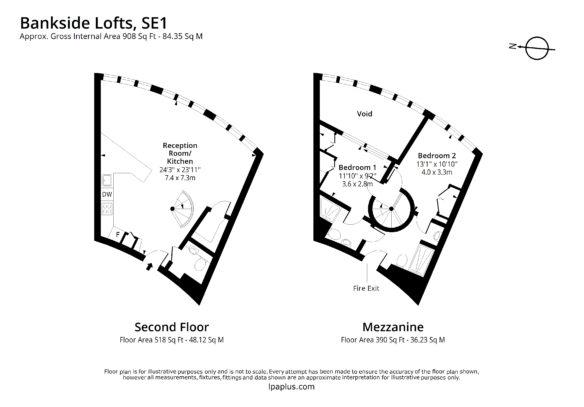 202 bankside lofts se1 for rent floorplan