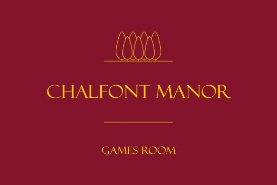 Chalfont Manor House for Sale games room sign