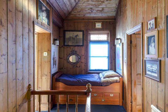 cabin bed on the first floor landing at the limes cottage