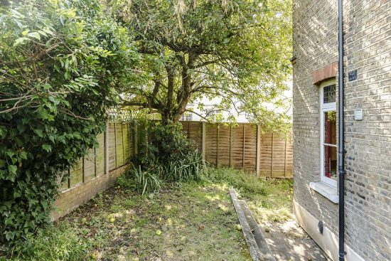 rear garden at the limes cottage se10