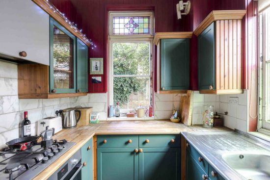 kitchen at the limes cottage se10