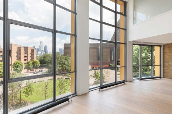 double height windows at bankside lofts
