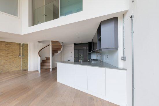 open plan kitchen at bankside lofts se1
