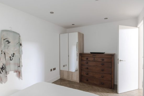 gate house clapham bedroom with wardrobe