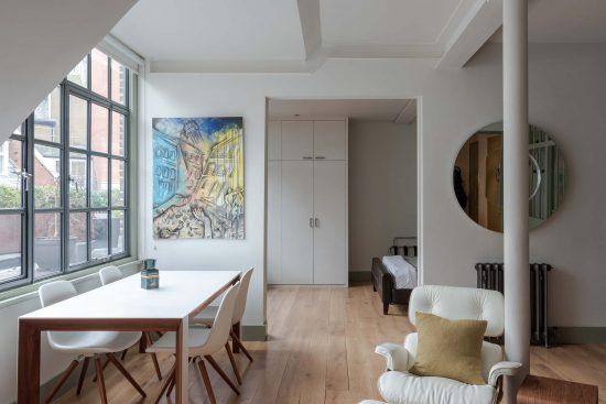kean street wc2 living room door to bedroom