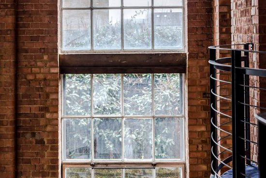 spratts warehouse window overlooking canal